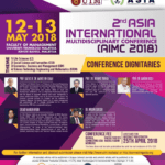 2nd Asia International Multidisciplinary Conference (AIMC 2018)