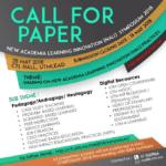 Call for paper : NALI SYMPOSIUM 2018