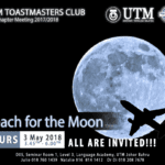 UTM Toastmasters Club 19th Chapter Meeting 2017/2018