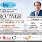 CEO Talk by Dato' Seri Dr. Mohd Azhari Yakub (CEO IJN)