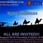 UTM Toastmasters Club 4th Chapter Meeting 2018/2019