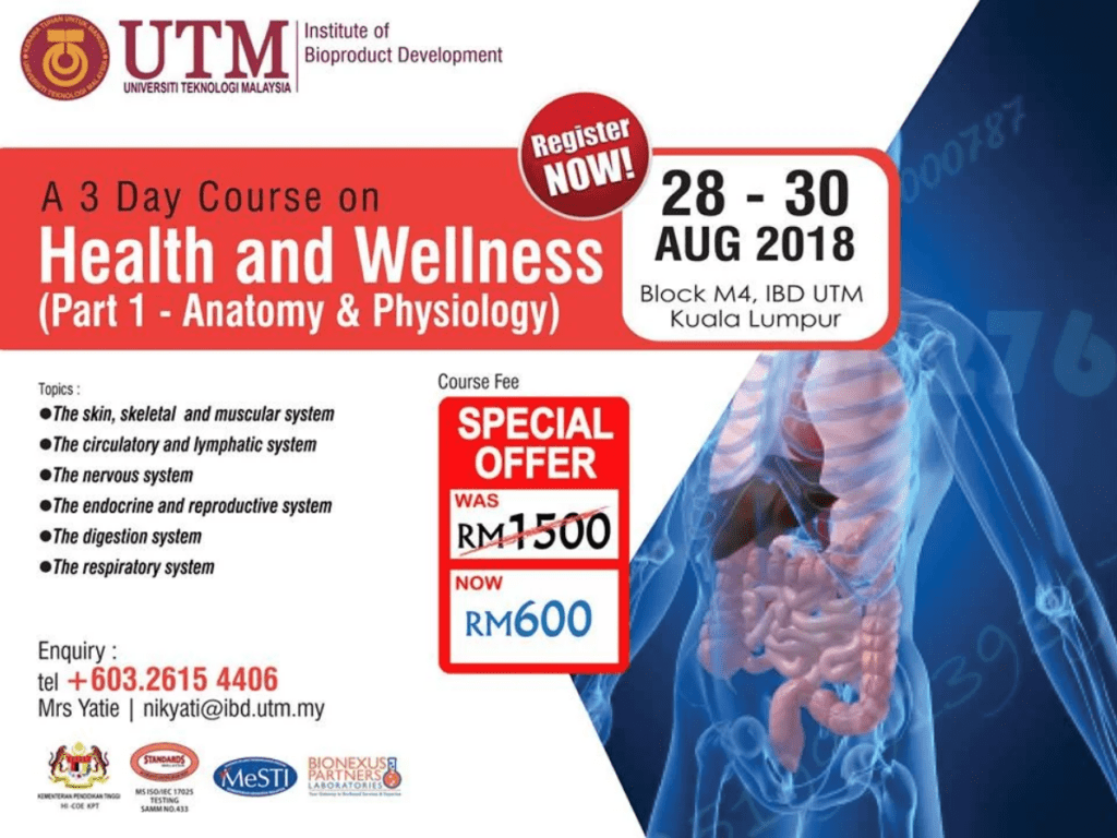 A 3 Day Course on Health and Wellness (Anatomy & Physiology ...