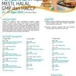 Kursus pengenalan kepada MESTI, Halal, GMP dan HACCP