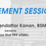 'Engagement Session'Timbalan Pendaftar Kanan BSM bersama semua staf PPP, UTM Kuala Lumpur