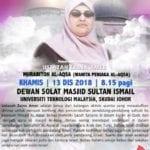 Ceramah Al-Aqsa oleh Ustazah Zaina Amer
