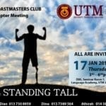 UTM Toastmasters Club 14th Chapter Meeting 2018/2019