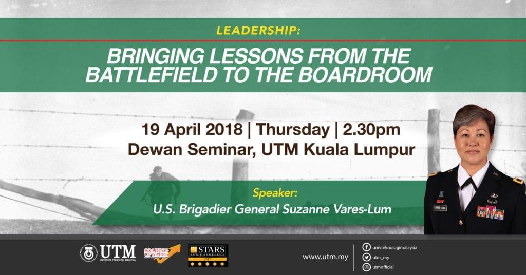 Leadership Talk By the U.S Brigadier General Suzanne Vares-lum