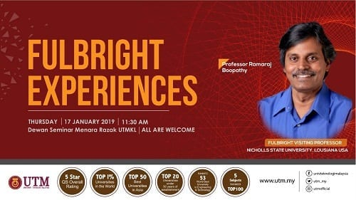 Fulbright Experiences by Prof. Ramaraj Boopathy