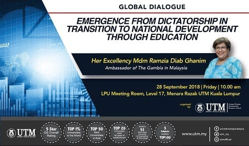 Global Dialogue: Emergence From Dictatorship in Transition to National Development Through Education