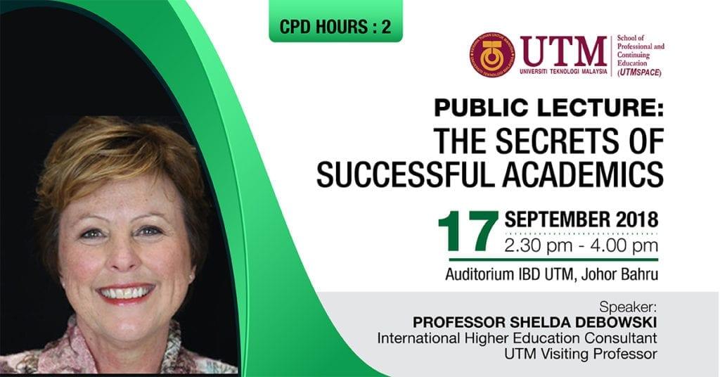 Public Lecture: The Secrets of Successful Academics